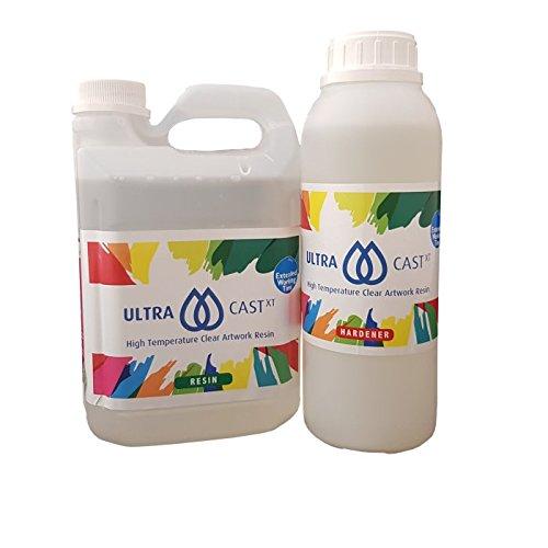 Ultra-CastXT 1.5kg, klares, lösungsmittelfreies Kunstharz, Epoxidharz., ASTM D4236 geprüft