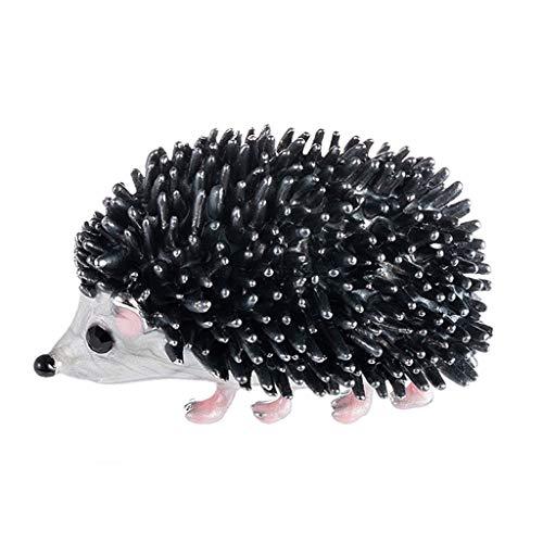 RK-HYTQWR Hedgehog Broche para Mujeres Hombres joyería Disfraz Regalos Esmalte Rhinestone