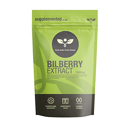 Bilberry Extract 1000mg 180 Capsules Eye and Sight Supplement UK Made. Pharmaceutical Grade