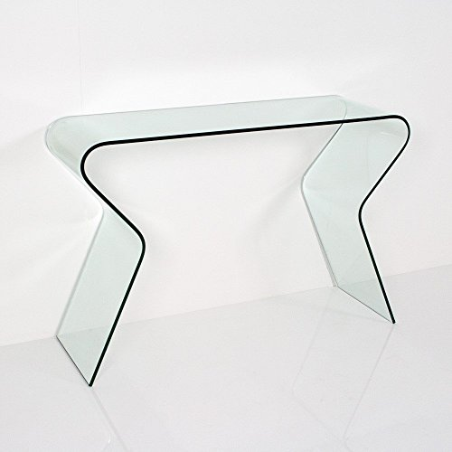 MaisonOutlet Consolle Cristallo curvato da Salotto o Ingresso Offerta Outlet Online