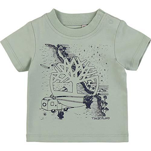Timberland T-Shirt en Coton avec imprimé Bebe Couche Sage 1MOIS