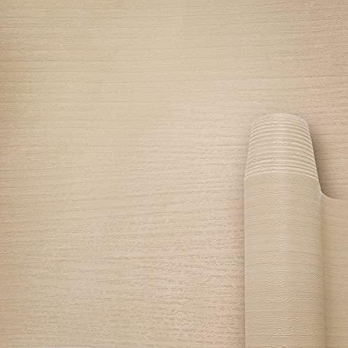 AWNIC Lámina Adhesiva con aspecto de madera, autoadhesiva, grano de madera natural, PVC, resistente al agua, para proteger cocina, muebles, decoración, mesa y armarios (madera natural, 300x40cm)