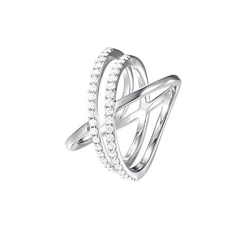 Joop! Damen-Ring JP-M Refined 925 Silber Zirkonia weiß Gr. 54 (17.2)-JPRG90799A170