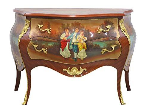 Casa Padrino Barock Kommode Mahagoni mit 2 Schubladen 120 cm - Möbel Antik Stil