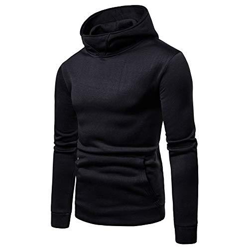 VANVENE Men Pollover Long Sleeve Hoodies Sweatshirts Fleece High Collar Casual Jumpers M-3XL