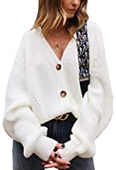 [ Material ]:Acrylic. This cardigan sweater is 100% brand new and high quality! [ Style ]:Casual, Loose, Open Front, Button Down, Cable Knitted, Solid Color, Long Sleeves, V Neck. This oversized sweater cardigan can be both casial or formal. [Occas...