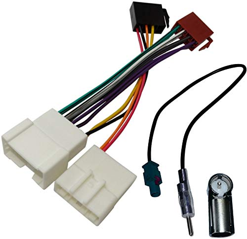AERZETIX - ISO adattatore cavi - Per autoradio - Adattatore per cavo antenna
