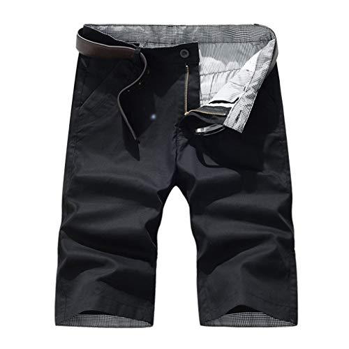 Große Größe Gerade Shorts für Herren/Skxinn Männer Sommer Kurze Hose Übung Overalls Freizeithosen Casual Sport Slim Fit Hosen Regular Fit S-7XL Ausverkauf(Schwarz,7XL)