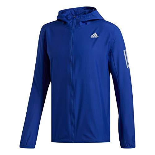 adidas Herren Response Jacket Laufbekleidung Trainingsjacke Blau - Silber S
