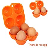 SOOGGI 4枚入り 卵ケース 玉子キャリー アウトドア 携帯タマゴホルダー 卵入れ4枚 冷蔵庫用 エッグボックス 蓋付 ピクニック キャンプ用