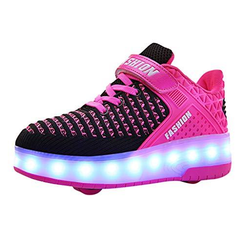 FELZ Calzado Deportivo Bebe, Zapatillas Bebe Primeros Pasos, Zapatos USB de Skate con Ruedas LED Light Up para Niños Pequeños, Moda Zapatillas de Deporte Luminosas con luz LED de Deporte
