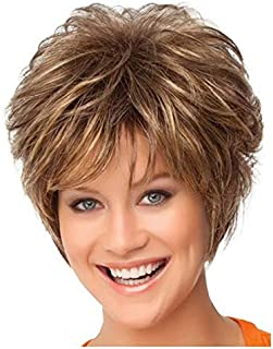 Fashion Blonde Short Curly Hair Bob Style Wig Heat Resisant Women's,Hairpieces (Color : Blonde)