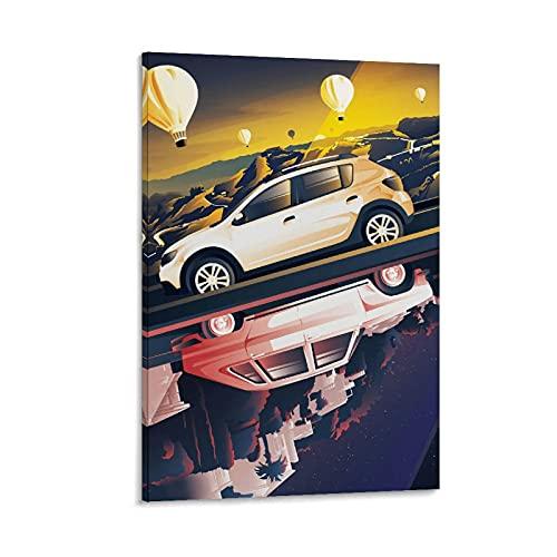 JUEDIN Cartel de coche de moda sala de estar arte cartel colgante pintura 40 x 60 cm