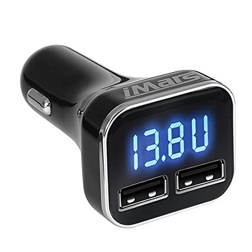 LINPAN Adaptador De Cargador De Coche Dual USB De 5V 4.8A Detección De Corriente Adaptador USB