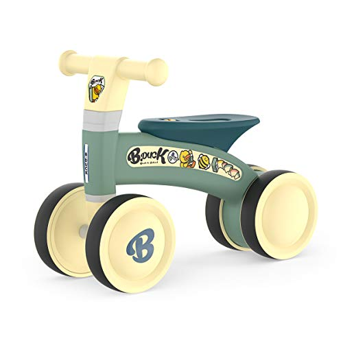 SKL Baby Balance Bike for 10-24 Months, Baby Bike Toys for 1 Year Old Boys Girls, Baby Bicycle No Pedal Infant 4 Wheels Toddler Bike Riding Toys First Bike Birthday Gift