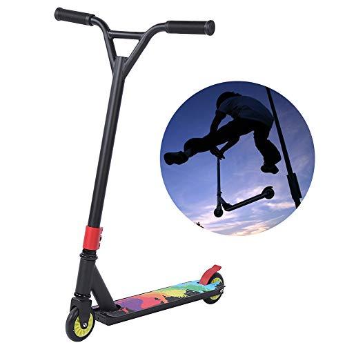 Pro Scooter, patinete de acrobacias portátil ligero para niños intermedios y principiantes, adolescentes, adultos, juego de patinetes, equipo, color negro