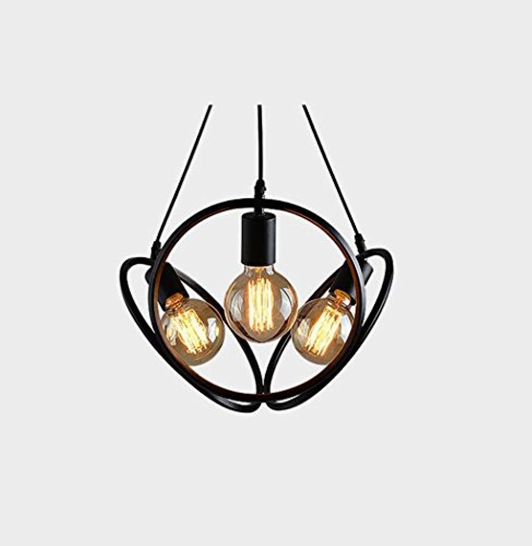 LED Pendelleuchte, 3-Licht Globe Neuheit Kronleuchter Downlight - Mini-Stil, sü, einstellbar, 110-120V   220-240V Glühbirne nicht im Lieferumfang enthalten YDYG (Farbe   Schwarz)