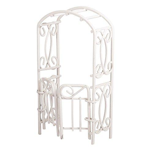 Rayher Hobby Rayher 46231102 Rankbogen mit Türen, weiß, 5x10x2,5cm, SB-Btl 1Stück