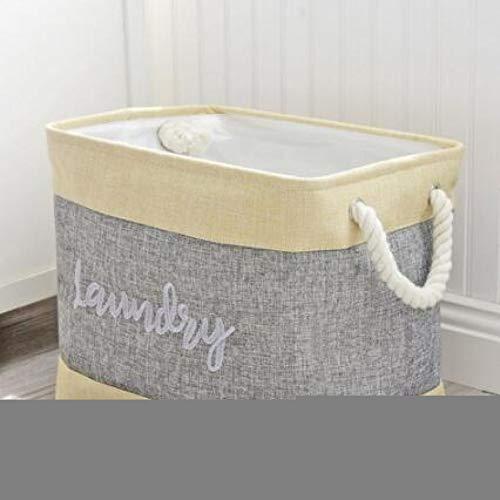 ZXXFR Wasmand, borduursel opbergbarrels opvouwbaar wasgoed wasgoed mand box Home Decoration Organizer kinderen opslag schop grote capaciteit vouwen, milieuvriendelijk voorkomen grijs