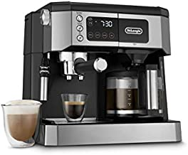 De'Longhi All-in-One Combination Coffee Maker & Espresso Machine + Advanced Adjustable Milk Frother for Cappuccino & Latte + Glass Coffee Pot 10-Cup, COM532M
