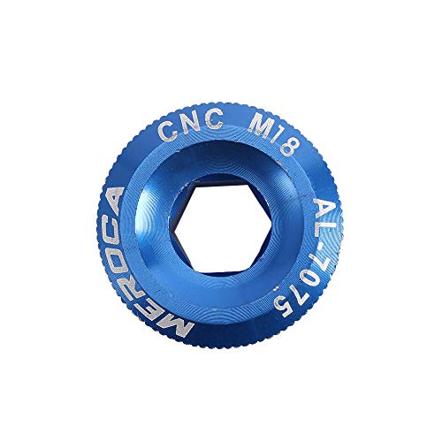 NAYAO Manivela de pedalier de Bicicleta M18 / M19 / M20, Cubierta de manivela de Tuerca de Juego de bielas de aleación de Aluminio(M20,Blue)