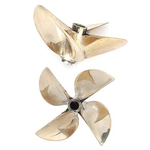 Hélice de Barco RC, 4 Palas 67mm/2.6in LH Hélice de latón 6717 Reemplazo para Barco RC de Eje de 1/4 pulg.