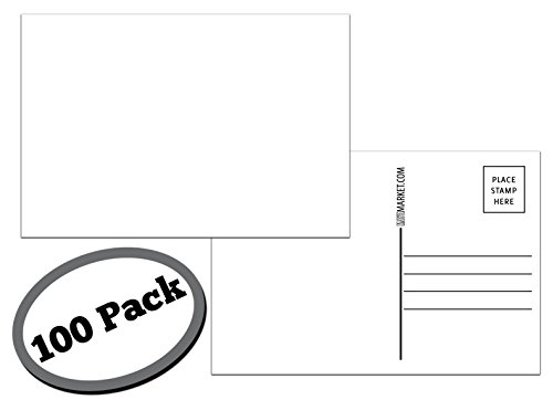 100 Pack of Blank Postcards. Each Post Card in This Patriotic, Bulk Set is 4 x 6, USPS Compliant (mailable), and Made in USA. Mail to Voters to get Votes. Flip Side is Plain White and unused. (Blank)