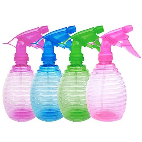 Beaupretty 4 Stks Plastic Spuitflessen Draagbare Fijne Neveltrigger Lege Water Kan Container Voor Reinigingsoplossing Kapper Haar Tuin Planten Willekeurige Kleur