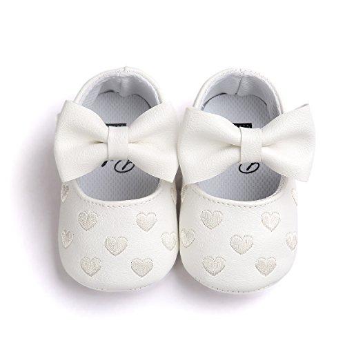 BENHERO Baby Infant Girls Soft Sole Floral Princess Mary Jane Shoes Prewalker Wedding Dress Shoes (6-12 Month Infant), B-Gold
