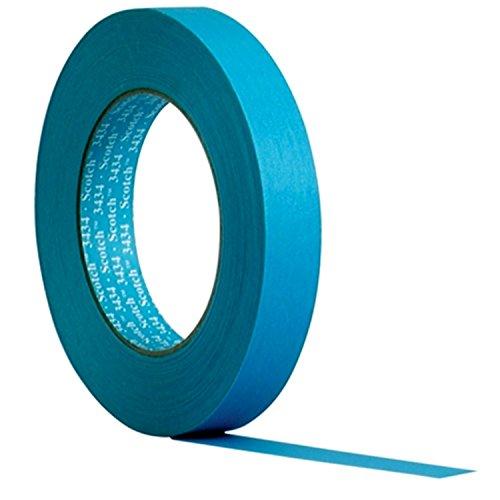 3M Scotch 07895 - Hochleistungsabdeckband 3434, Blau, 19 mm x 50 m