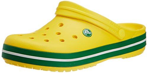 Crocs Crocband, Zuecos Unisex Adulto, color Yellow/Kelly Green, talla 36-37