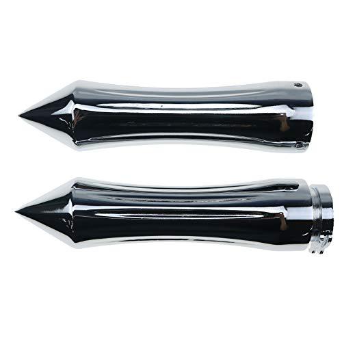 7/8 Zoll 22mm Spike Lenker Motorrad Handgriff Handgriffe für Cruiser Chopper Cafe Racer (Chrom)
