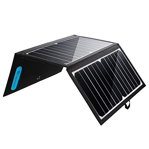 Renogy E.Flex 21W Solar Charger Foldable Portable Water-Resistant Dual USB Ports Outdoor for iPhone Xs/X/8, iPad, Galaxy Nylon Kickstand