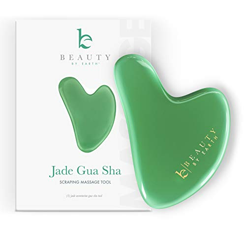 Gua Sha Tool - Jade Stone Guasha Scraping Massage Tool, Facial Massage for Lymphatic Drainage for Face, Eyes, Neck and Body
