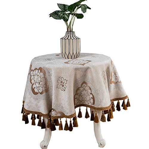 Ronde Europese ronde kleine ronde tafel van stof voor koffie, tafelkleed rond