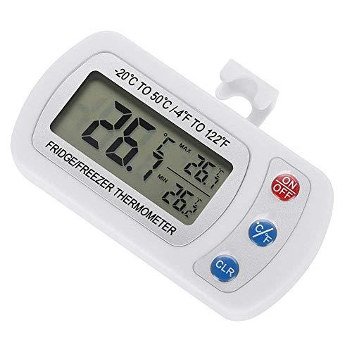 Digitale Gefrierschrank Kühlschrank Thermometer Wasserdicht mit Einstellbare Stand Kleiderbügel LCD Display für Home Restaurants Küche Min Max Rekord
