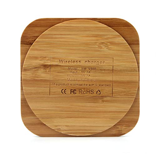 Lironheel Bamboo Wooden Qi Wireless Charger Charging Pad for Samsung Galaxy S6/ S6 Edge Plus S7/ S7 Edge Note 5 /Note 7 Elephone P9000