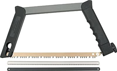Outdoor Edge PackSaw - Collapsible, Break-Down Outdoor Hunting Saw with Three Interchangeable Wood, Bone and Metal Blades and Nylon Storage Case