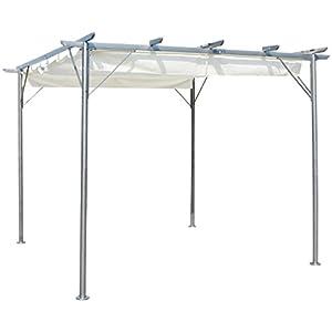 Pergola de aluminio Monica - 3 x 3 x altura .2.2 m - Color Taupe ...