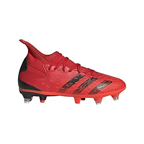 adidas Predator Freak .3 SG J, Scarpe da Ginnastica, Rosso (Negbás Rojsol), 30 EU