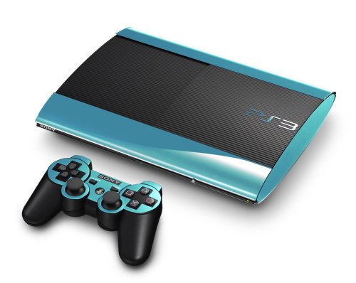 Sky Chrome Mirror Vinyl Decal Faceplate Mod Skin Kit for Sony PlayStation 3 Super Slim Console by System Skins