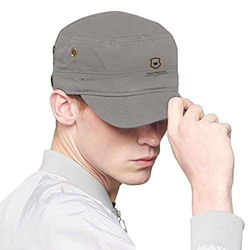 Shear Perfection Academy of Cosmetology Logo Adult Flat Caps Mens and Womens Dad Hats Baseball Black Cap Easily Adjustable Suitable for Sports, Outdoor, Daily, Unisex Adult Flat Cap.