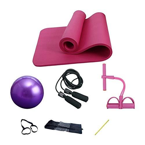 Regalo Yoga Mat, 3 pezzi o 4 pezzi di yoga o Pilates Set, Yogitoes Yoga Mat, 10 millimetri di spessore 25 centimetri Rubber Ball 2 cinture e corda for saltare, Yoga Stuoie, for Yoga Pilates Yoga per p