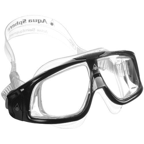 Aqua Sphere Erwachsene Taucherbrille / Tauchmaske / Schwimmbrille Seal 2.0 (Einheitsgröße) (Schwarz/Grau)