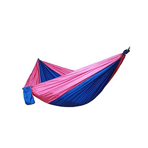 Qinghengyong High Strength Parachute Fabric Hammock Double Parachute Fabric Hammock Wide Outdoor Camping Beach Yard Swing Hanging Sleeping Bed