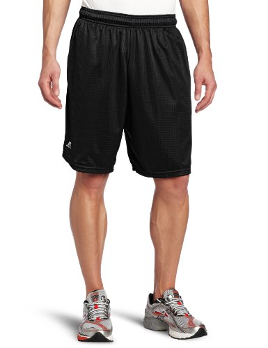 Russell Athletic Men's Mesh Short with Pockets, Black, X-Large
