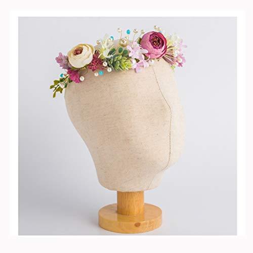 Q Flower Wreath Hair Accessories Wedding Dress Dress Girl Marry Accessories Accessories Headband F (Color : A)