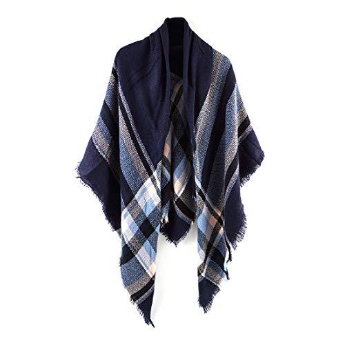 Women's Cozy Tartan Plaid Scarf Tassel Shawl Warm Checked Pashmina Fall Blanket Wrap Scarves