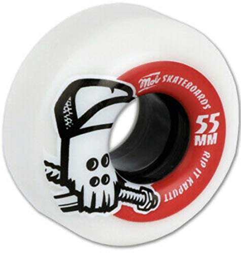 mob Wheels Skateboard-Rollen Skull hybrid-Soft 85A 55mm (4er Set)