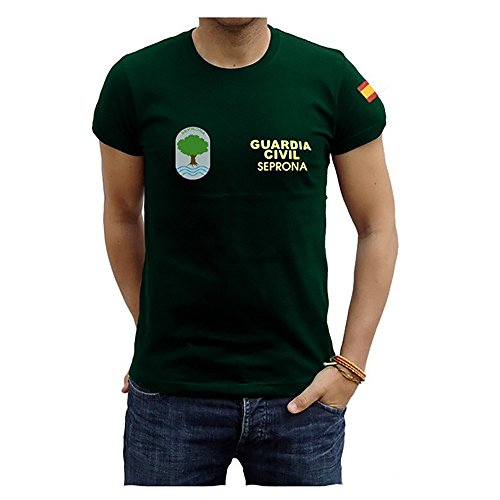 Piel Cabrera Camiseta Guardia Civíl Seprona (M, Verde)